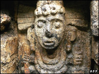 A figure from a frieze on an Aztec altar