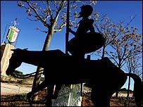 A statue of Don Quixote