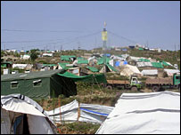 Tent city in Kashmir