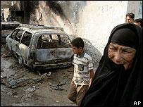 Results of street fighting in Baghdad