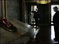 German Chancellor Angela Merkel at the mausoleum of Mustafa Kemal Ataturk