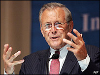 US Defense Secretary, Donald Rumsfeld