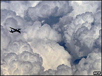 Aircraft in clouds near Nice (file image)