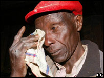 Mau Mau veteran Mucheke Kioru, 75, remembers being held in a detention camp