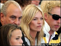 Sir Philip Green and Kate Moss (both centre) at the recent London Fashion Week