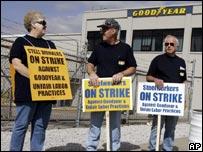 Striking Goodyear workers