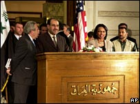 US Secretary of State Condoleezza Rice with the Iraqi PM Nouri Maliki, 5 October 2006