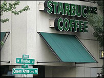 Un local de Starbucks Corp. en Seattle