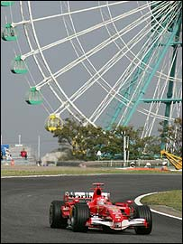 Michael Schumacher in free practice at the Japanese Grand Prix