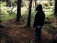 Child in woods