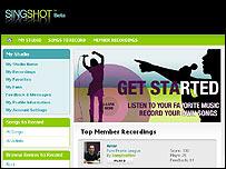SingShot website