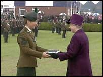 The Conspicuous Gallantry Cross was received by Corporal Claire Withers