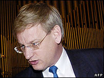 Former Swedish PM Carl Bildt - now foreign minister