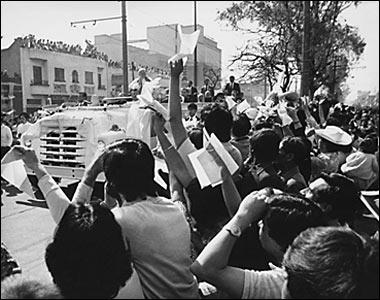 Visita del Papa Juan Pablo II a México, 27 de enero de 1979. Archivo histórico El Universal.