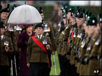 The Queen attended the RIR march at Balmoral in Belfast