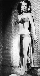 """Yolanda Montes, """"Tongolele"""". Foto tomada hacia 1960, Archivo histórico El Universal."""