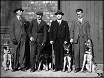The UK's first guide dogs and their owners