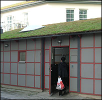 Recycling shed in Augustenborg