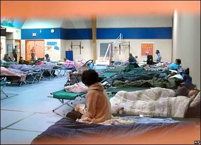 Olive Chapel Elementary School provides temporary shelter for residents
