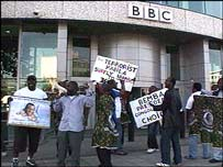 Congolese protesters