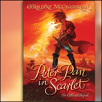 The book cover of Peter Pan in Scarlet