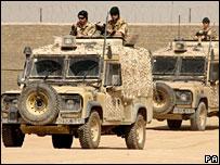 Marines on patrol in Helmand
