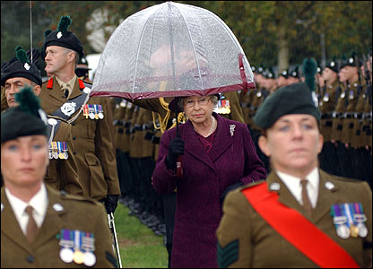 The Queen attended the parade at Balmoral Showgrounds (pic courtesy Will Craig/Army press office)