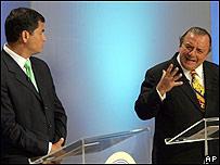 Rafael Correa y Álvaro Noboa