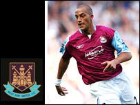 West Ham striker Bobby Zamora