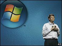 Bill Gates y logo de Windows