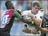 Harlequins halt a charge from Sale and England wing Mark Cueto