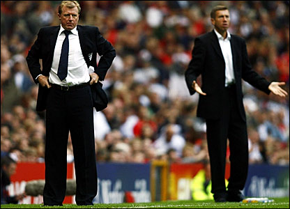 England manager Steve McClaren and his Macedonia counterpart Srecko Katanec