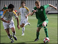 Damien Duff made little impact for the Republic