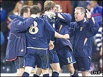 Scotland celebrate a wonderful victory
