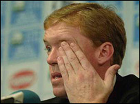 Steve Staunton at the post-match press conference on Saturday