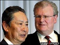 Nobuyuki Idei and Howard Stringer