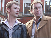 John Simm and Philip Glenister in Life on Mars