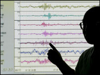 Japan's Meteorological Agency official points to the seismic wave of suspected nuclear test - 9/10/06
