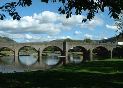 The Bridge over the River Wye at Builth Wells (sent in by Linda Westlake)