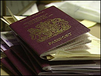 A pile of passports