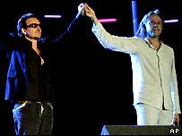 Bono and Geldof