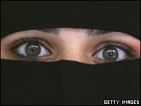 Woman wearing veil (generic)
