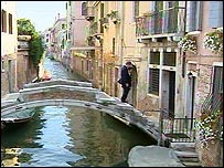 A guesthouse in Venice