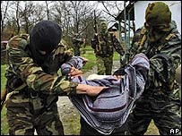 An arrest in Chechnya