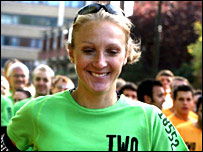 Paula Radcliffe in action during the Nike Run London 10km