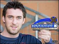 Allan McGregor with his Bank of Scotland award