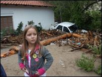 В деревне Ставрос после наводнения