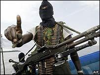 Militant in Niger Delta