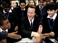 David Cameron at the London Academy