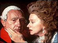 Nigel Hawthorne and Helen Mirren in The Madness of King George